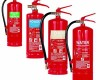 Different types of fire extinguishers for different fires.