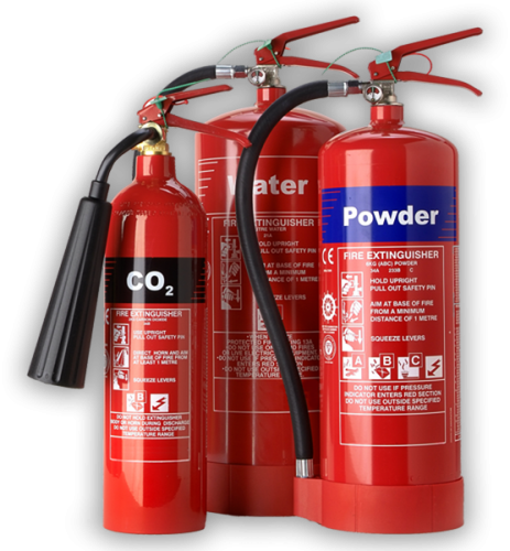 Fire Extinguishers - CO2, Water and Powder