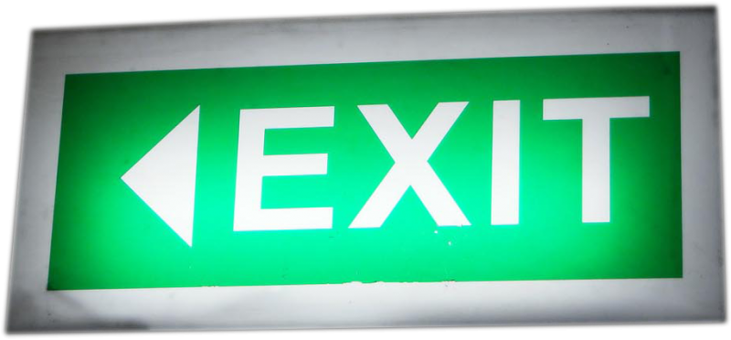 Fire exit emergency lighting