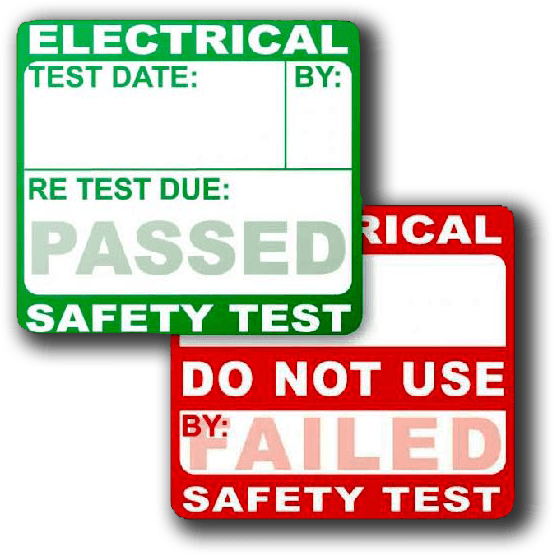 PAT Testing Pass and Fail Stickers