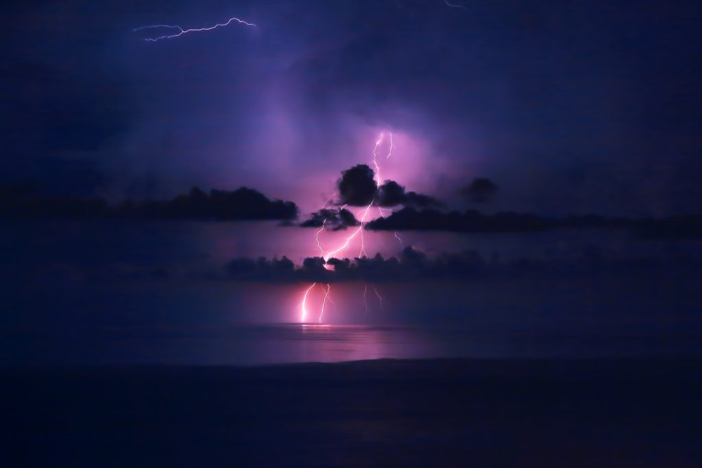 Beautiful lightning landscape
